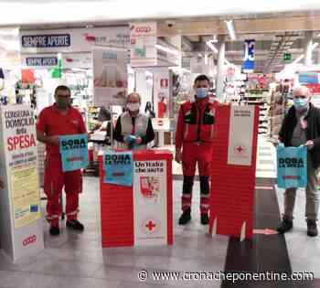 FOTO - Arenzano, la Croce Rossa raccoglie 575 kg di prodotti per i più bisognosi - cronacheponentine.com
