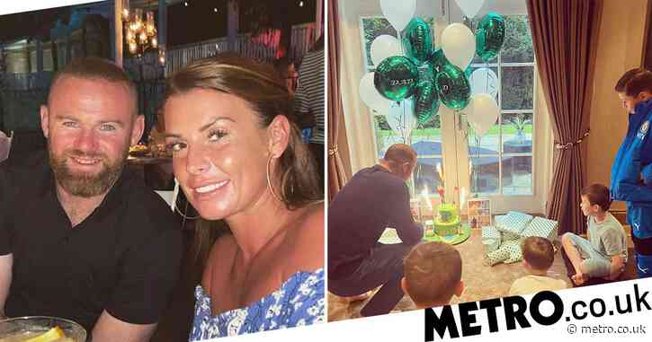 Coleen Rooney celebrates husband Wayne's 35th birthday with sweet family photos