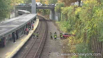 Car Plunges Near Metro-North Train Tracks - NBC New York