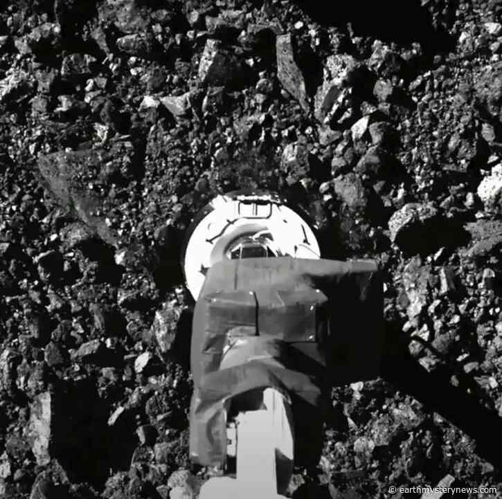 Asteroid samples escaping from jammed NASA spacecraft