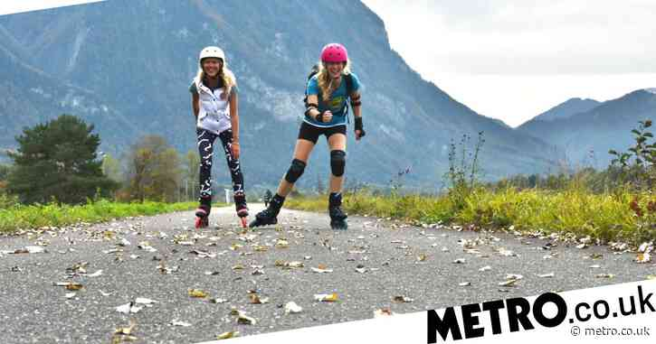 Rollerblading the length of one of the world's smallest countries to avoid quarantine, passing mountains and fairytale castles along the way