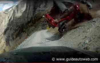 Un Jeep déboule dans un ravin et c'est terrifiant