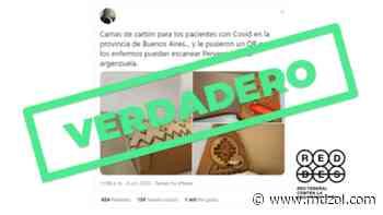 Es verdadero que la Provincia de Buenos Aires recibió una donación de camas de cartón - MDZ Online