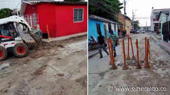 Reparan fuga de agua en el barrio Buenos Aires - EL HERALDO