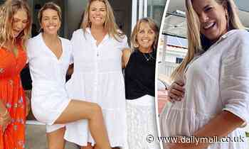 Pregnant Fiona Falkiner and her fiancée Hayley Willis throw party for their 'non wedding day'