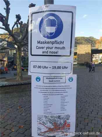 Maskenpflicht in der Innenstadt von Cochem - Blick aktuell