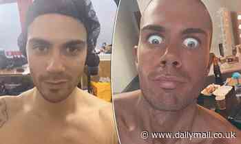 Strictly's Max George shows off the results of his VERY dark spray tan ahead of the first live show
