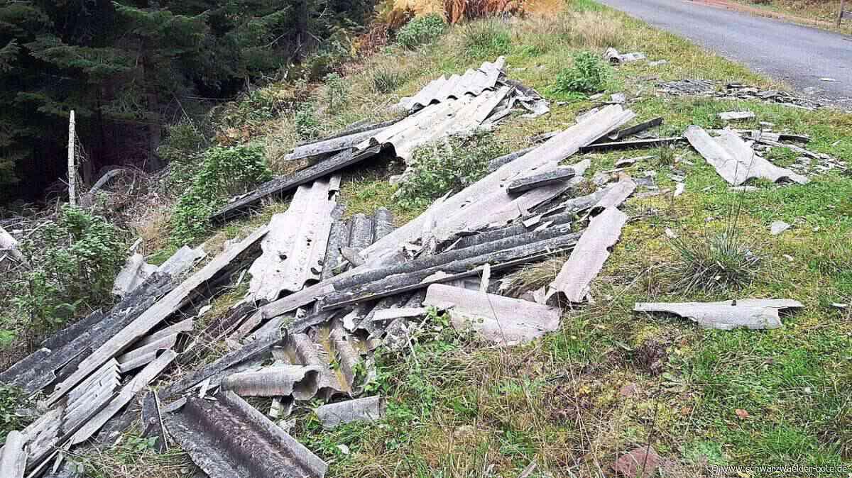 Bad Wildbad: Große Menge Müll auf dem Sommerberg entsorgt