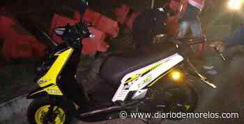 Derrapa sujeto en moto en Jojutla - Diario de Morelos