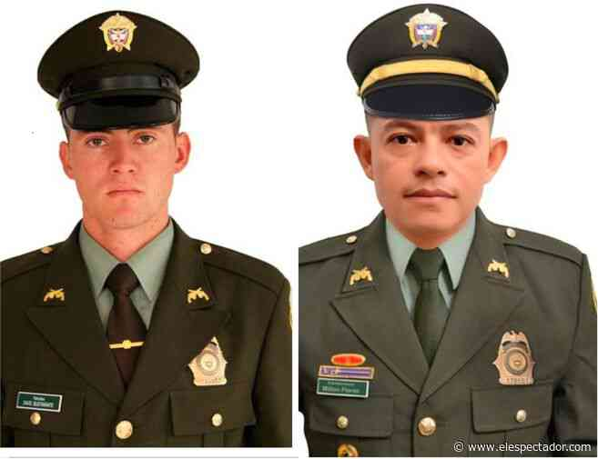Policías Eliécer Flórez y David Bustamante, asesinados en Puerto Libertador, Córdoba - El Espectador