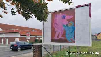 Elsterwerda: Künstler mietet Plakatwände für seine Bilder - Lausitzer Rundschau
