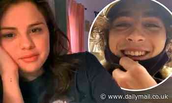 Selena Gomez video chats with Timothee Chalamet about voting as he waits in line to cast his ballot