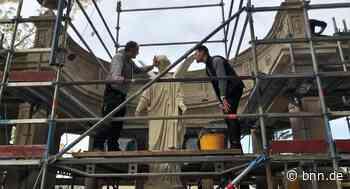 Engel-Denkmal am Herrengut in Baden-Baden strahlt wieder - BNN - Badische Neueste Nachrichten