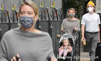 Hilary Duff is spotted with Matthew Koma and her daughter after announcing her pregnancy