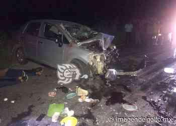 Dos muertos y dos lesionados en aparatoso accidente en la Sayula-Acayucan - Imagen del Golfo
