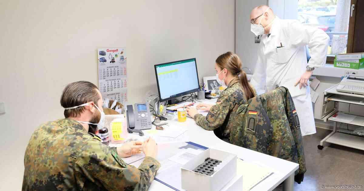 Sechs Soldaten vom Bundeswehrstandort Daun unterstützen Gesundheitsamt - Trierischer Volksfreund