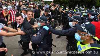 Arrests at Melbourne anti-lockdown rally - Blue Mountains Gazette