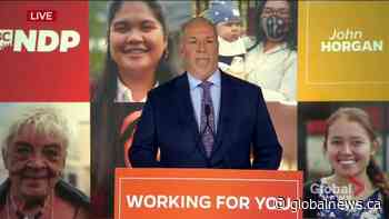 B.C. election 2020: Horgan expresses gratitude after projected win, talks dealing with coronavirus