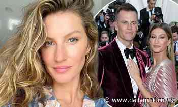 Gisele Bundchen shows off her clear skin in a selfie as her husband Tom Brady shares his approval - Daily Mail