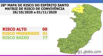 Covid-19: Ecoporanga é o único município do ES em risco moderado - G1