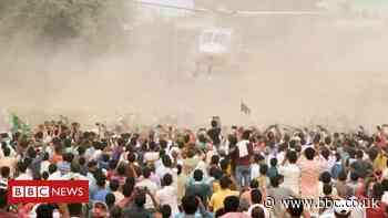 Bihar elections: Huge crowds gather at rallies, raising coronavirus fears