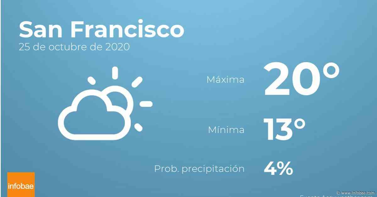 Previsión meteorológica: El tiempo hoy en San Francisco, 25 de octubre - infobae