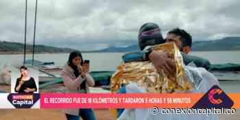 Dos deportistas atravesaron las aguas del Tominé desde Guatavita hasta Sesquilé - Canal Capital