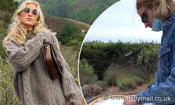 Elsa Hosk and boyfriendTom Daly enjoy cliffside picnic during their babymoon in Big Sur