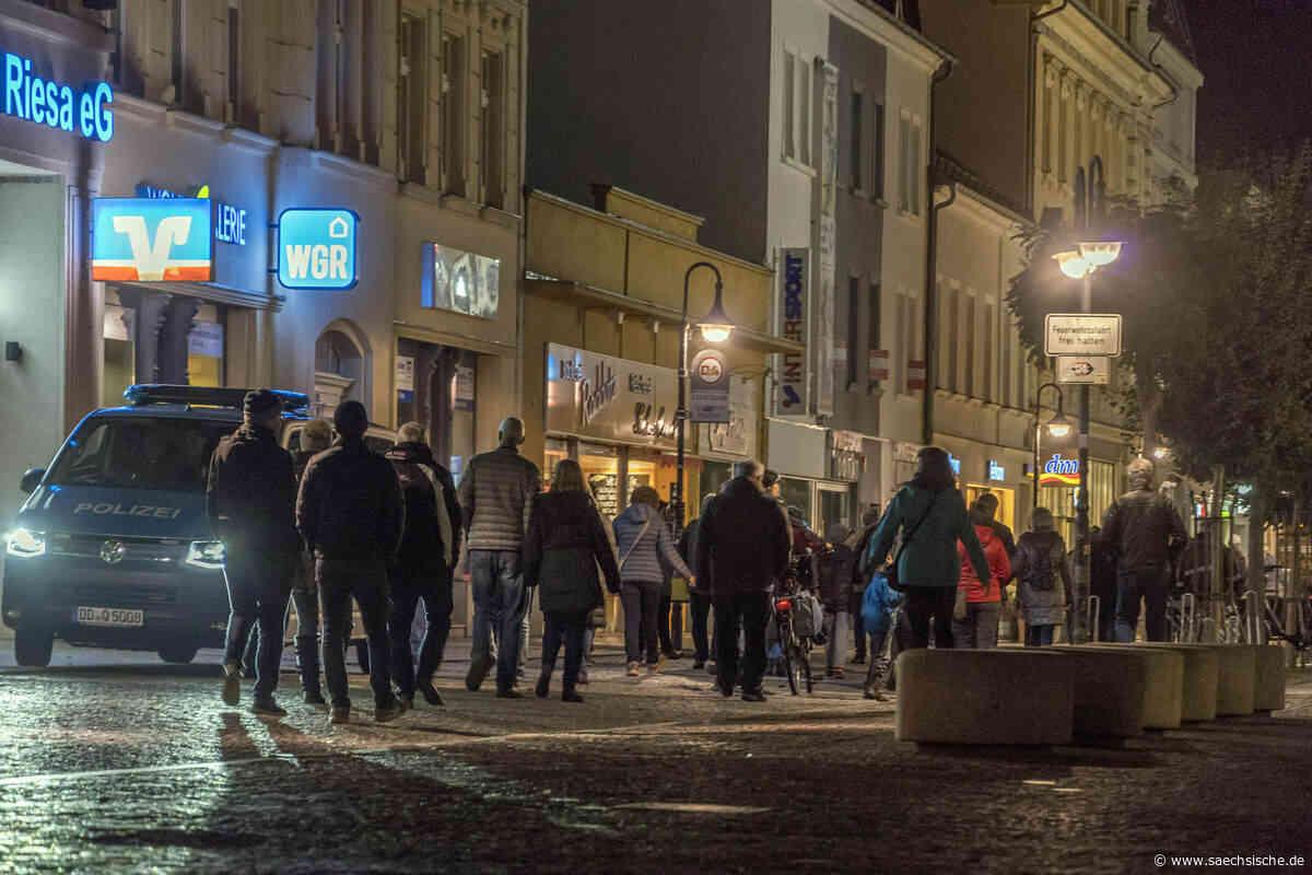 Amt rechnet mit erneuter Demo in Riesa - Sächsische Zeitung