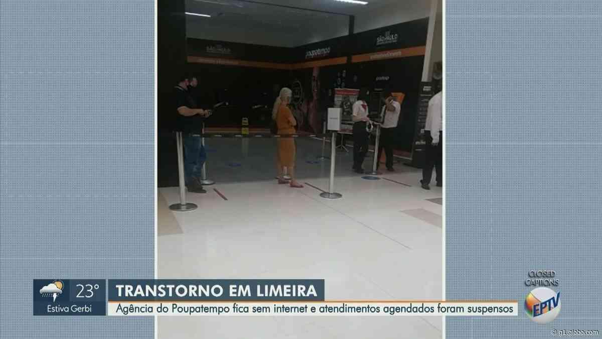 Sem internet, Poupatempo de Limeira tem longa fila e suspensão de atendimentos agendados - G1