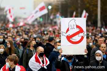 Belarus opposition calls general strike as tens of thousands march against Lukashenko