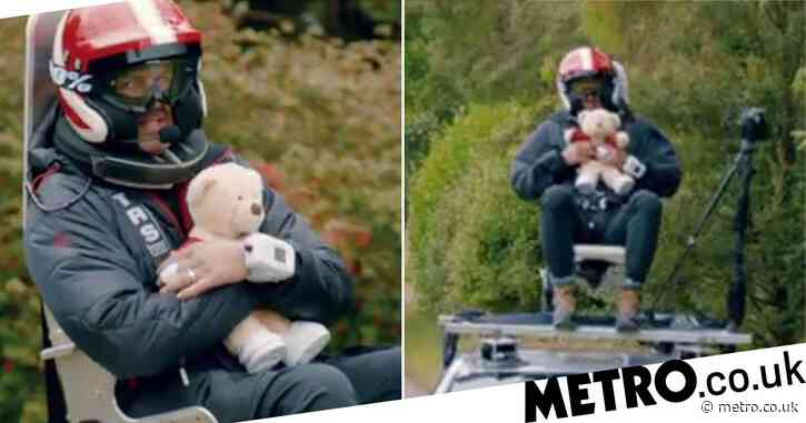 Top Gear's Paddy McGuinness clutches teddy bear and screams during terrifying high-speed race