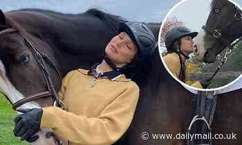 Bella Hadid gets back to her equestrian roots as she bonds with beloved horse Blue