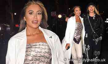 TOWIE's Frankie Sims enjoys a night on the town with her sister Demi