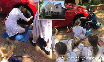 Sydney school teaches teen girls life skills - how to change a tyre, check oil and coolant levels