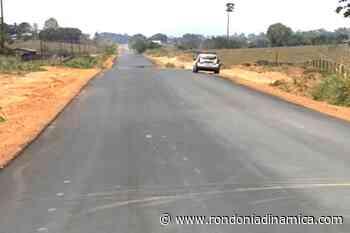 Governo avança em obra de asfaltamento que liga Ouro Preto do Oeste a Vale do Paraíso - Rondônia Dinâmica
