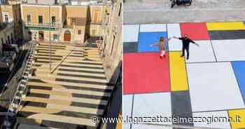 Bari, le piazze di Carbonara prendono vita: dipinte come un quadro di Mondrian - La Gazzetta del Mezzogiorno