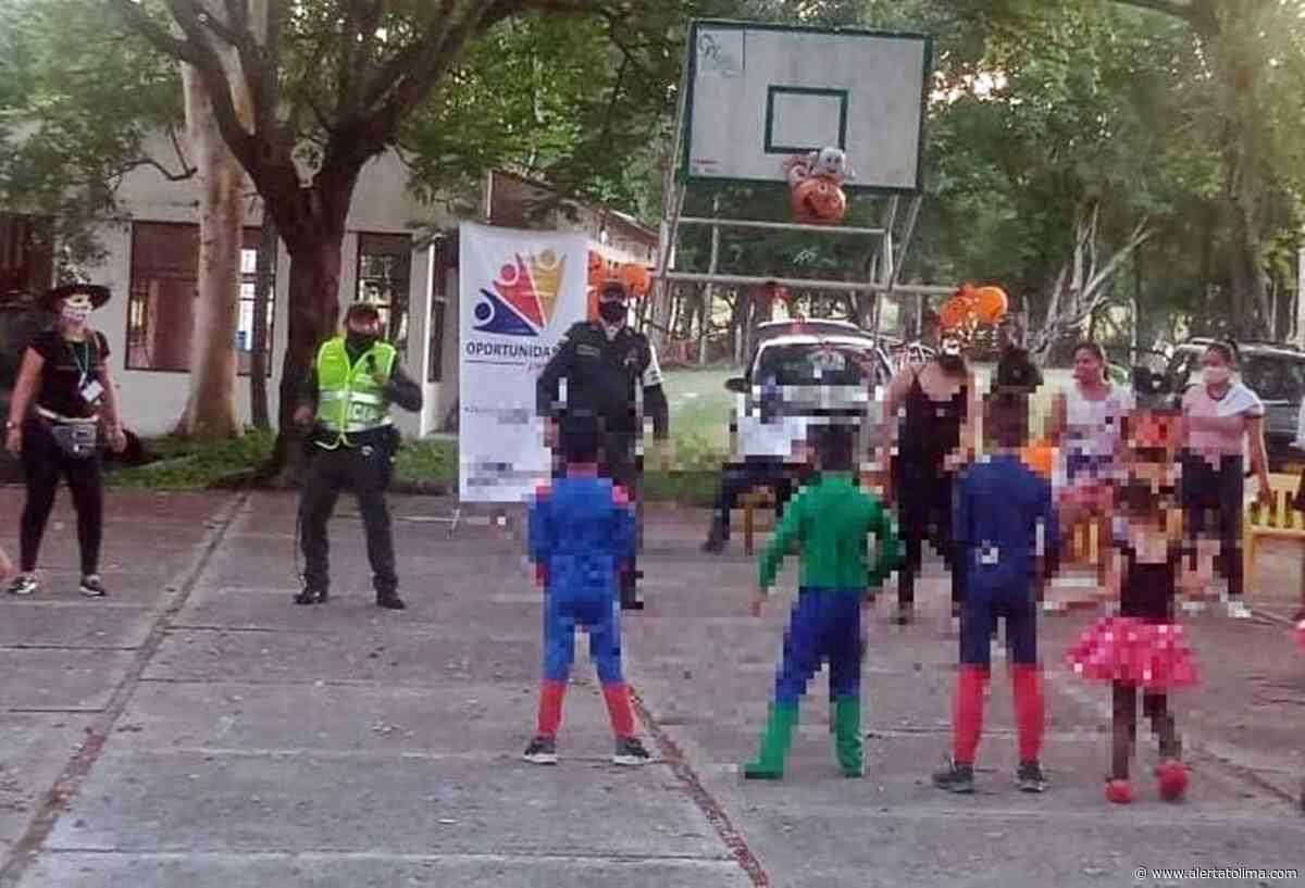 Policía y autoridades celebraron 'Halloween' en la vereda Maracaibo de Armero – Guayabal - Alerta Tolima