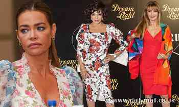 Denise Richards, Joan Collins and Jane at photocall for Glow And Darkness in Madrid