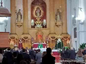 La iglesia de la Trinidad acogió la festividad del Señor del Rescate y la Virgen de la Piedad con las medidas preventivas de seguridad ante la pandemia - Las 4 Esquinas