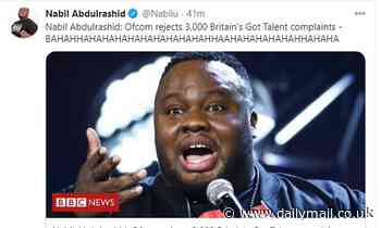 BGT's Nabil Abdulrashid mocks the 3k viewers who complained