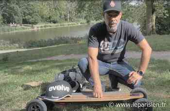 Saint-Gratien : ce passionné de glisse réalise le tour de France en skate électrique - Le Parisien
