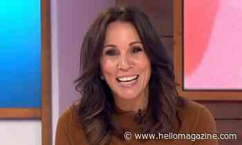 Andrea McLean cosies up in the perfect autumnal jumper