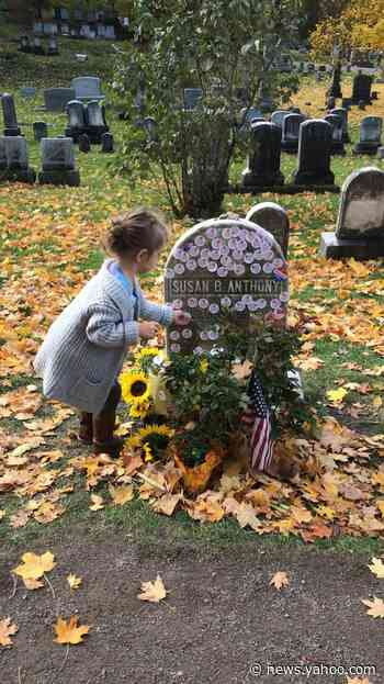 No more putting 'I Voted' stickers on Susan B. Anthony's headstone in New York