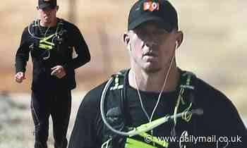 Channing Tatum works up a sweat on long solo run... days after news of split from on-off ex Jessie J