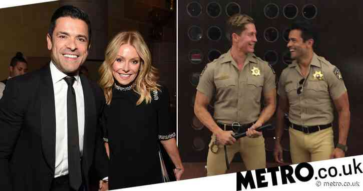Kelly Ripa and Mark Consuelos respond to fan's comment about his bulging pants in Halloween photo