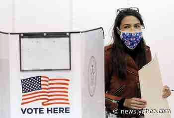 AOC criticises 'unacceptable' lines at New York polling stations after waiting two hours to cast ballot