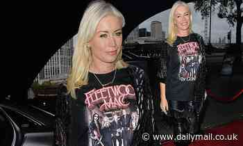 Denise Van Outen cuts a trendy figure she arrives at Proud Embankment ahead of her cabaret show