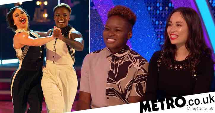 Strictly Come Dancing's Katya Jones cringes as her yelling to Nicola Adams is caught on camera