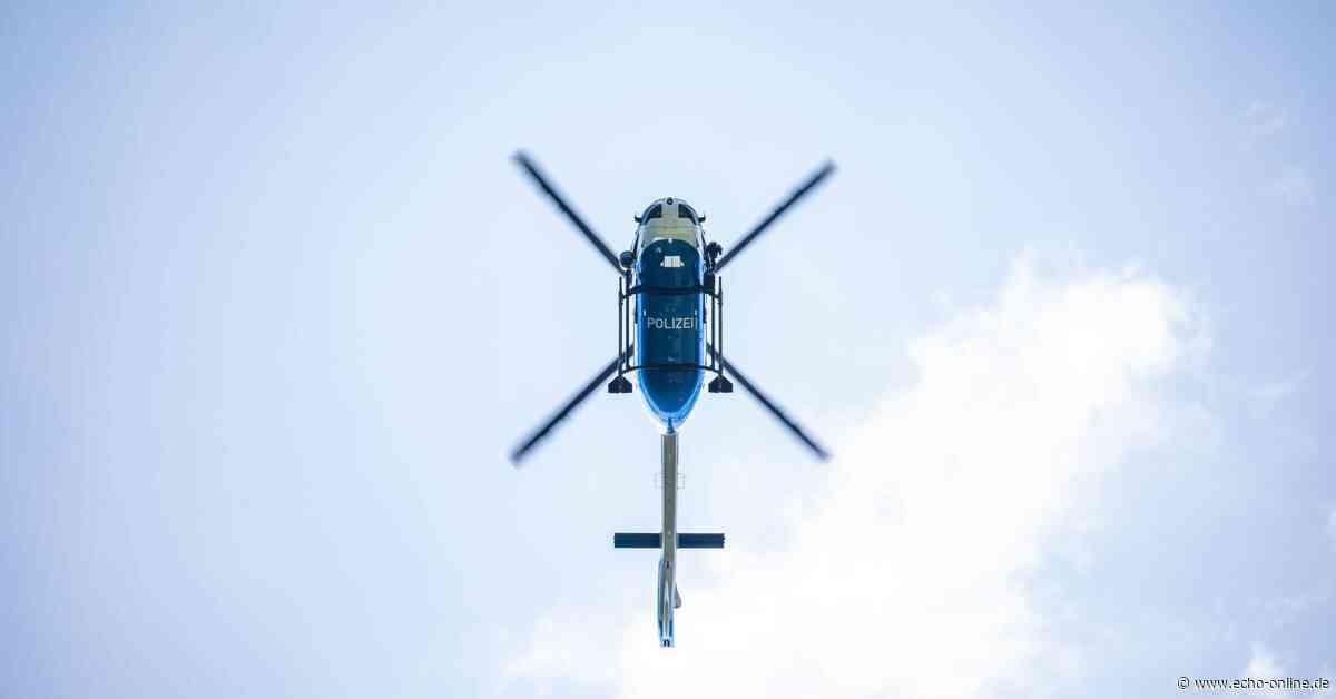 Hubschrauber bei Vermisstensuche in Birkenau im Einsatz - Echo Online